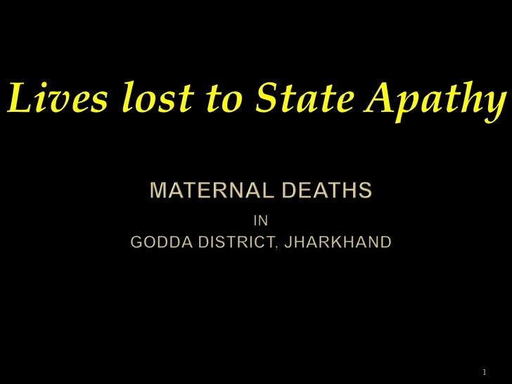 Lives lost to State Apathy                        1