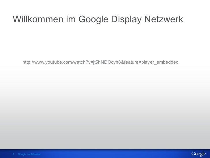 AdWords Konferenz_2012: Christoph Godderidge - Display Netzwerk