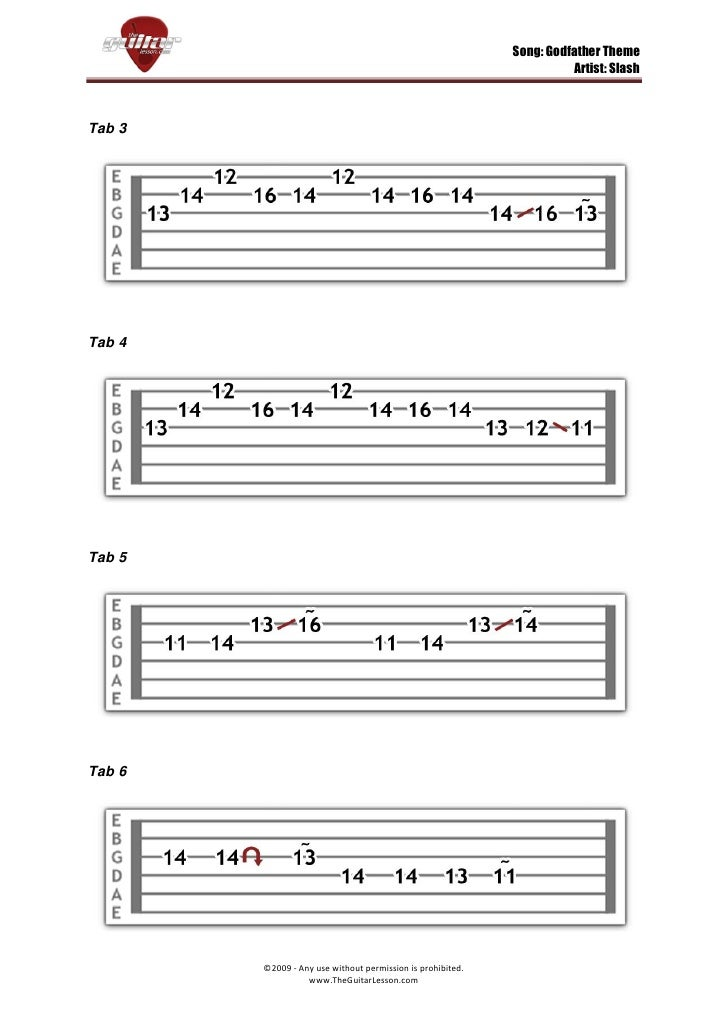 Godfather Theme By Slash Tabs