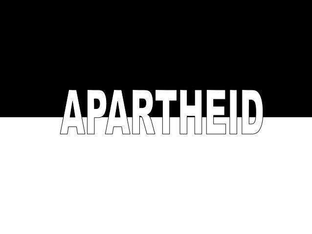Apartheid em africâner significa separação e foi um regime de segregação racial vigente na África do Sul durante 46 anos (...