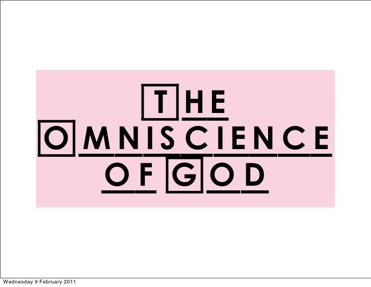 Evans, Our God is Awesome: God omniscience