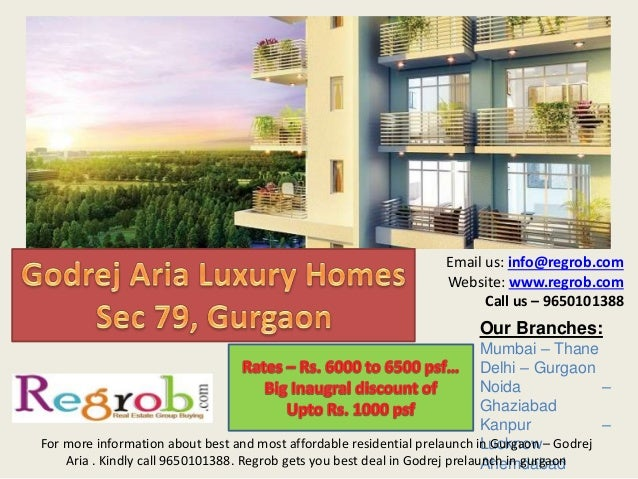 Godrej aria  2 and 3 bhk residences in sec 79 gurgaon starting from 79 lacs onwards call 9650101388