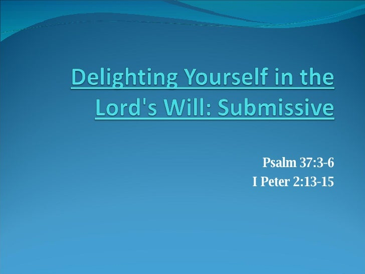 God's Will - Submissive