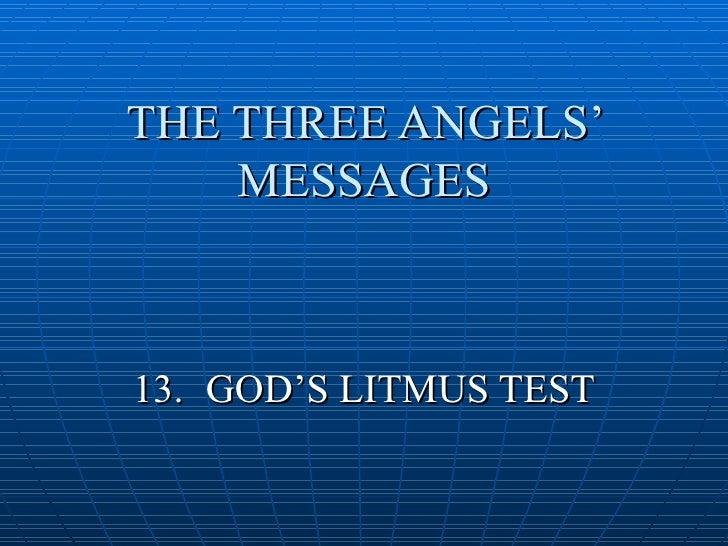 Gods Litmus Test