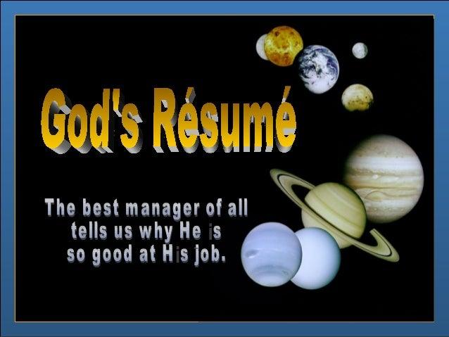 God's resume