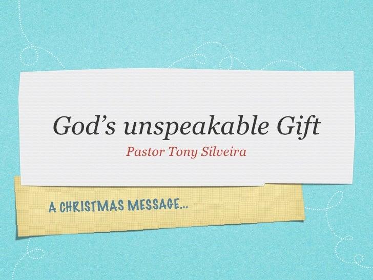 God's unspeakable gift