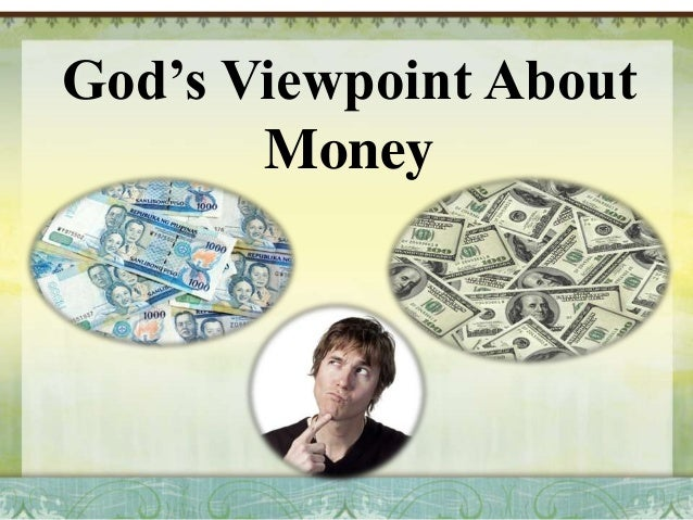 God's View Point About Money