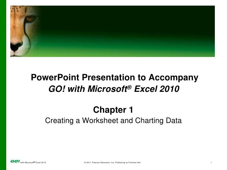 MS Excel Ch 1 PPT