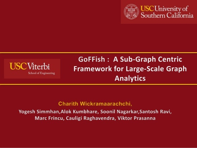 GoFFish - A Sub-graph centric framework for large scale graph analytics