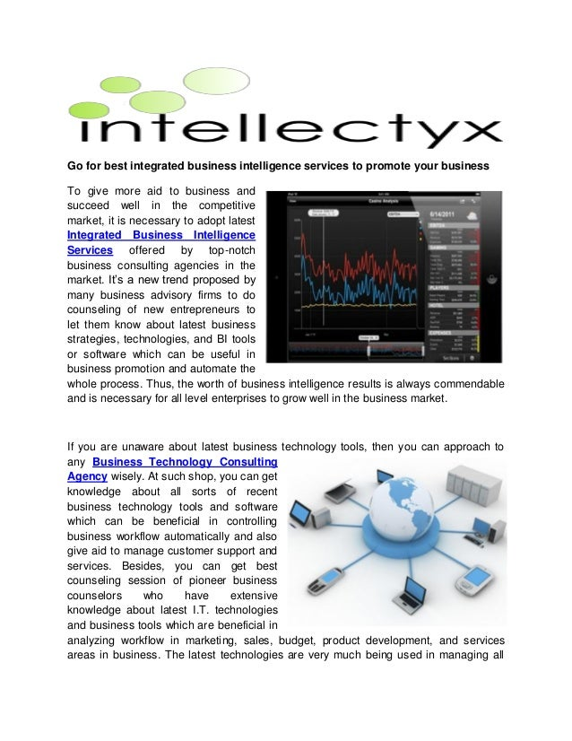 how to sell business intelligence services