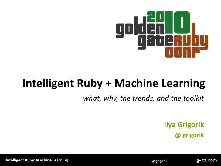 Intelligent Ruby + Machine Learning