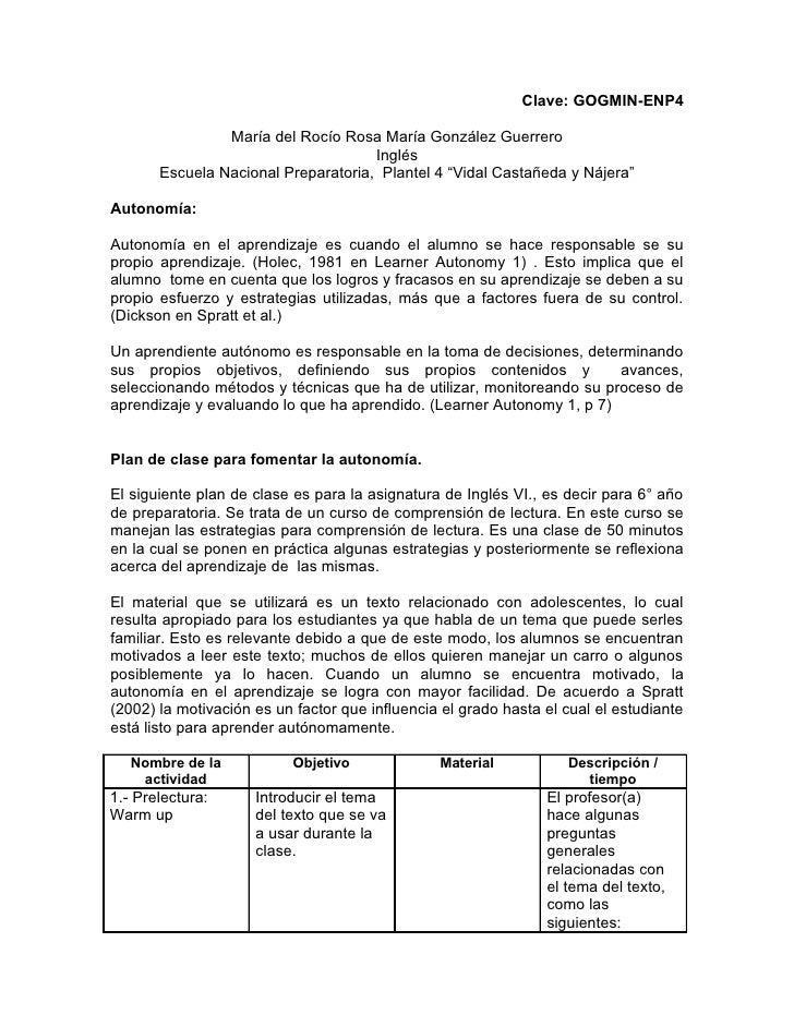 Clave: GOGMIN-ENP4                  María del Rocío Rosa María González Guerrero                                      Ingl...