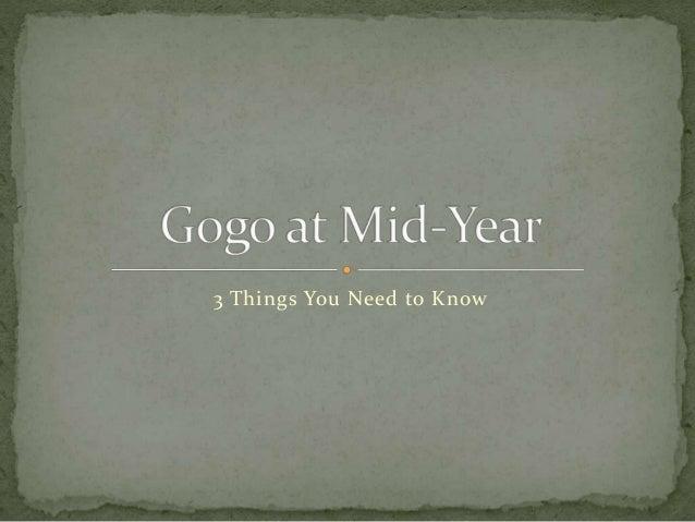 Gogo Inc at Mid-Year