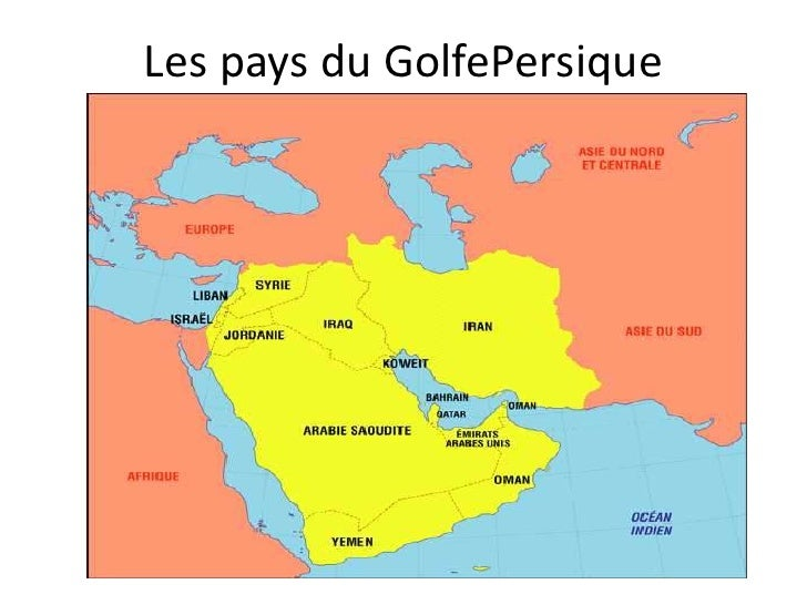 Les pays du GolfePersique<br />