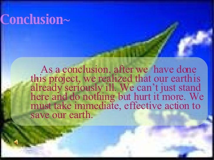 As a conclusion