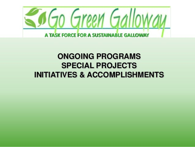 Go Green Galloway - A task force for Sustainable Galloway