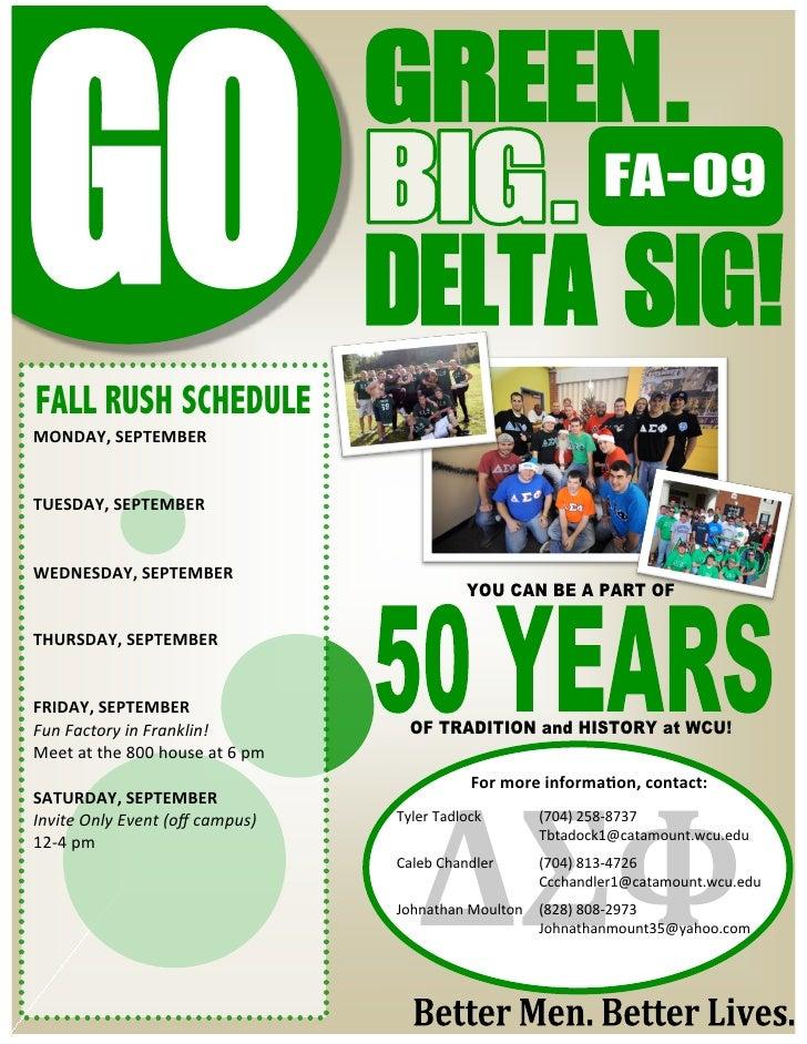 Go Green Go Delta Sig2