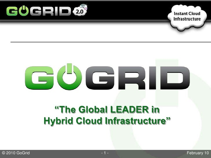 """""""The Global LEADER in Hybrid Cloud Infrastructure""""<br />"""