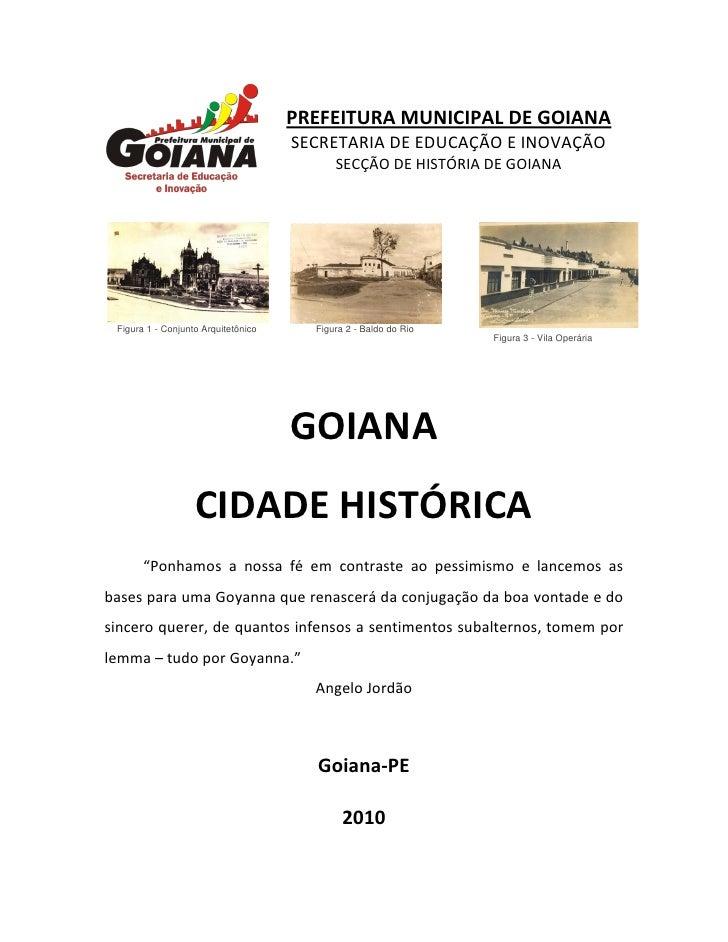 PREFEITURA MUNICIPAL DE GOIANA                                      SECRETARIA DE EDUCAÇÃO E INOVAÇÃO                     ...