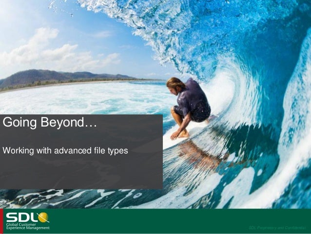 SDL Trados Studio 2014 - Working with advanced file types