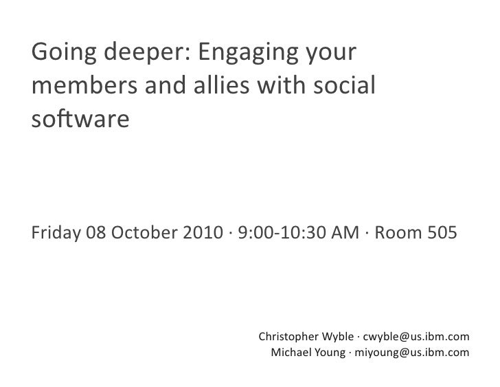 Going