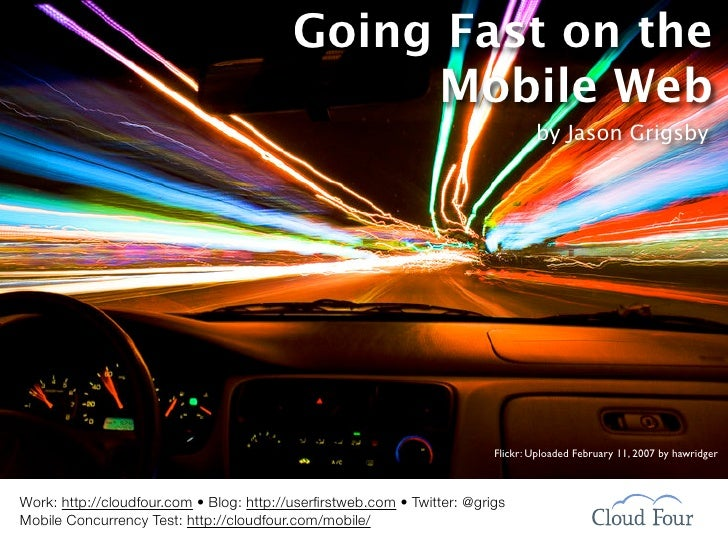 Going Fast On Mobile Web: Web 2.0 Expo