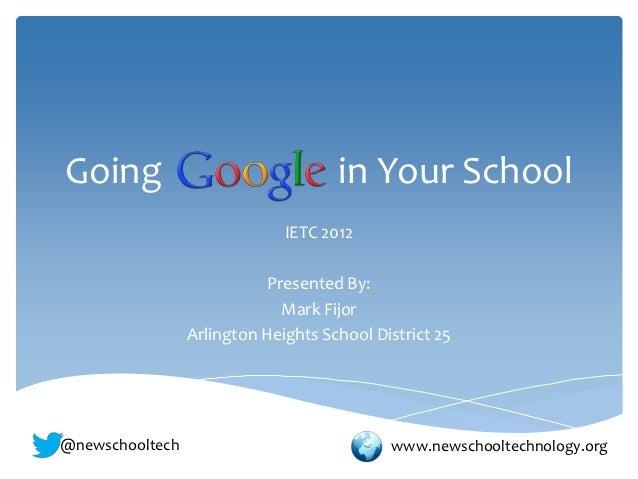 Going Google in Your School