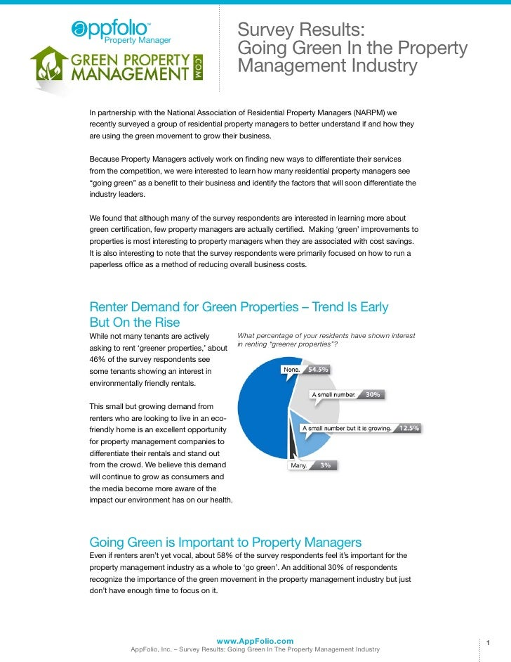 Property Manager                                              Survey Results:                                             ...