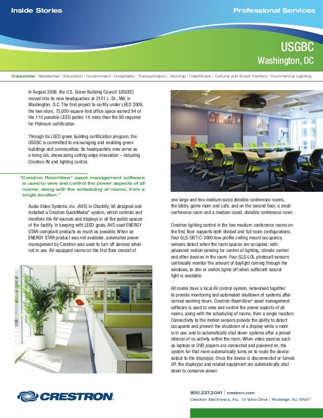 Going Green with Commercial Lighting Solutions from Crestron