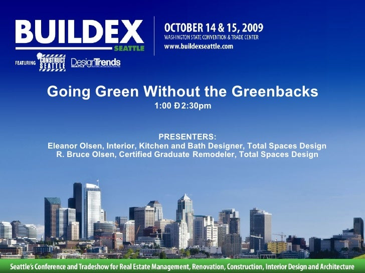 Going Green Without Greenbacks