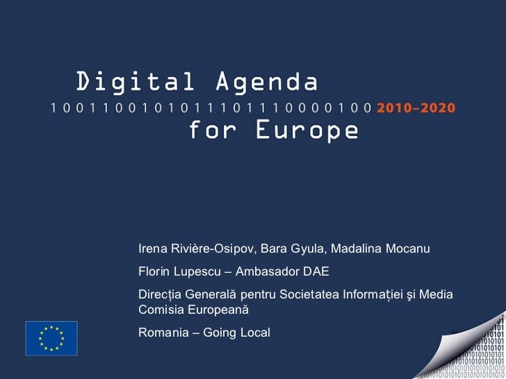 Presentation Digital Agenda Romania 2011