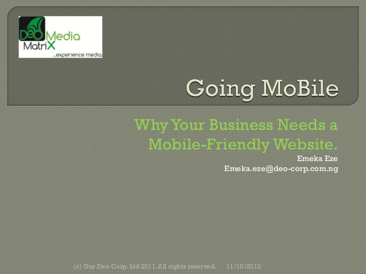 Why Your Business Needs a                     Mobile-Friendly Website.                                                    ...