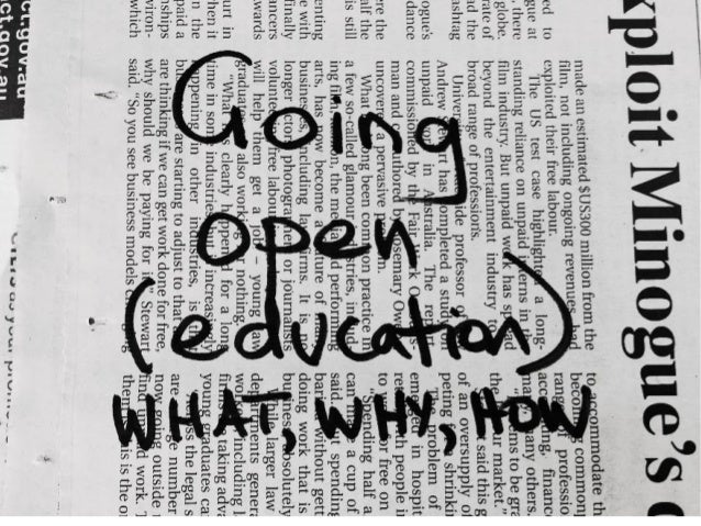 Going open (education): What, why, how?