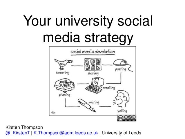 Kirsten Thompson @_KirstenT | K.Thompson@adm.leeds.ac.uk | University of Leeds Your university social media strategy