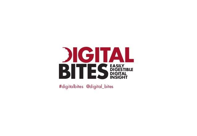 EASILY DIGESTIBLE DIGITAL INSIGHT  #digitalbites @digital_bites