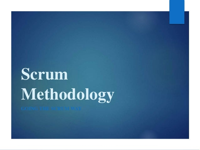 Scrum Methodology Going the ScrumWay