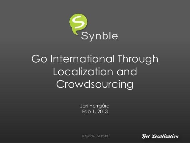 Go International Through Localization and Crowdsourcing