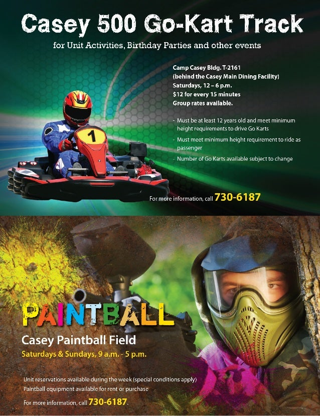 Go Karts and Paintball