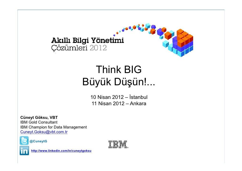 Think BIG                                     Büyük Düşün!...                                          10 Nisan 2012 – İst...