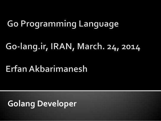 Golang Developer