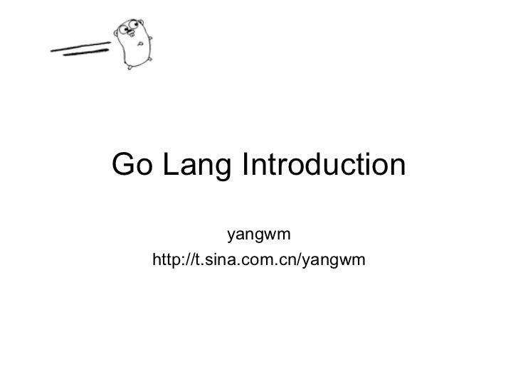 Go lang introduction