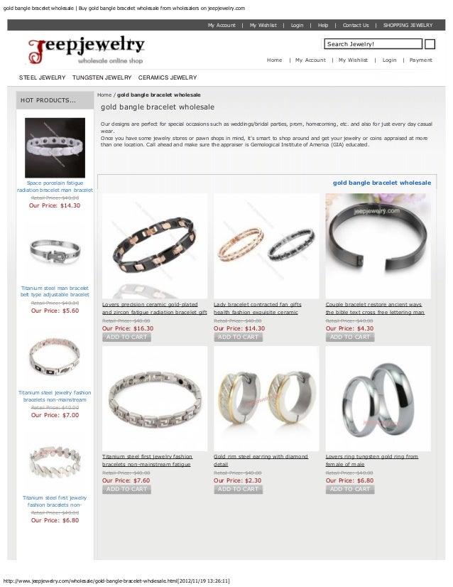 gold bangle bracelet wholesale | Buy gold bangle bracelet wholesale from wholesalers on jeepjewelry.com                   ...