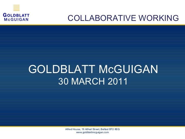 Collaborative Working - Goldblatt McGuigan