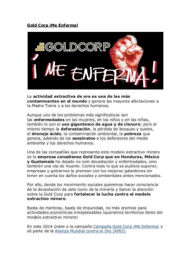 Gold Corp ¡Me Enferma!