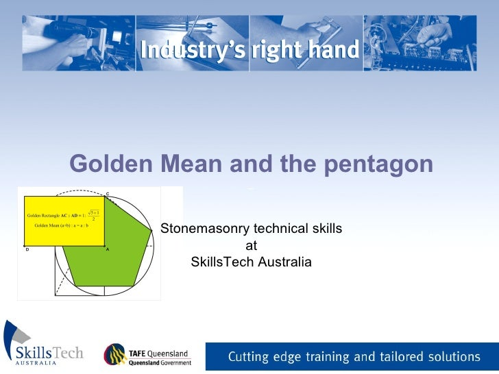 Golden Mean And The Pentagon
