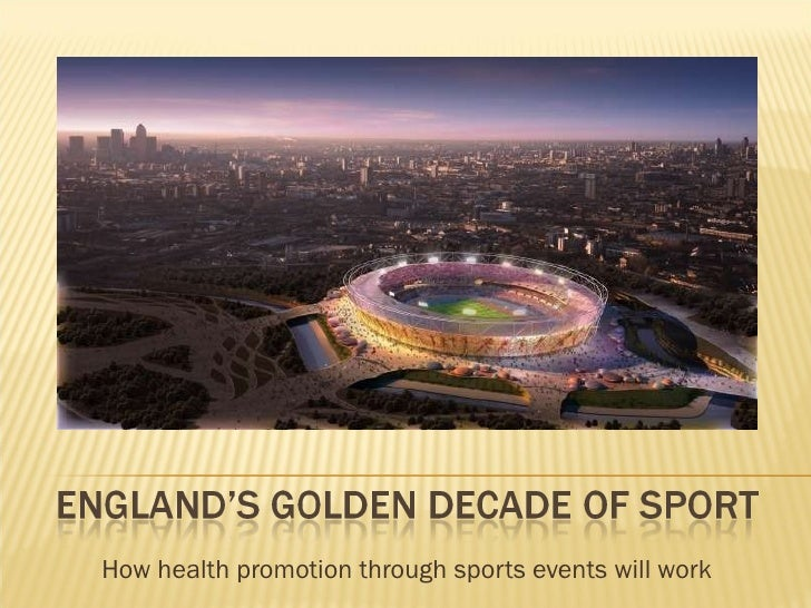 How health promotion through sports events will work