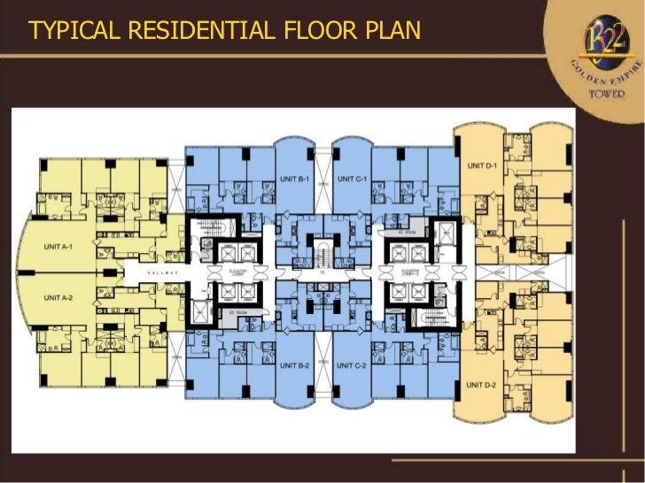 1322 golden empire tower condominium 1322 roxas for Residential floor plan design