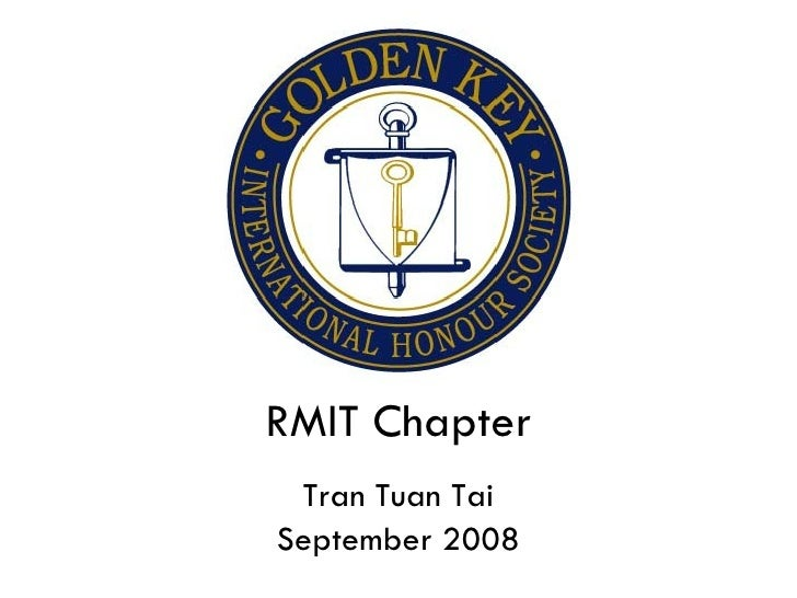 RMIT Chapter Tran Tuan Tai September 2008