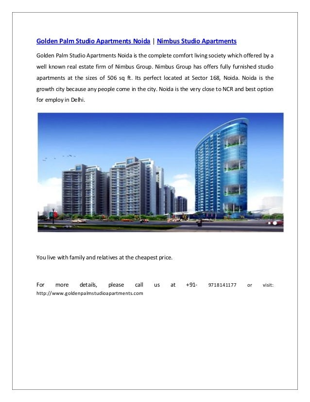 Golden Palm Studio Apartments Noida | Nimbus Studio Apartments  Golden Palm Studio Apartments Noida is the complete comfor...