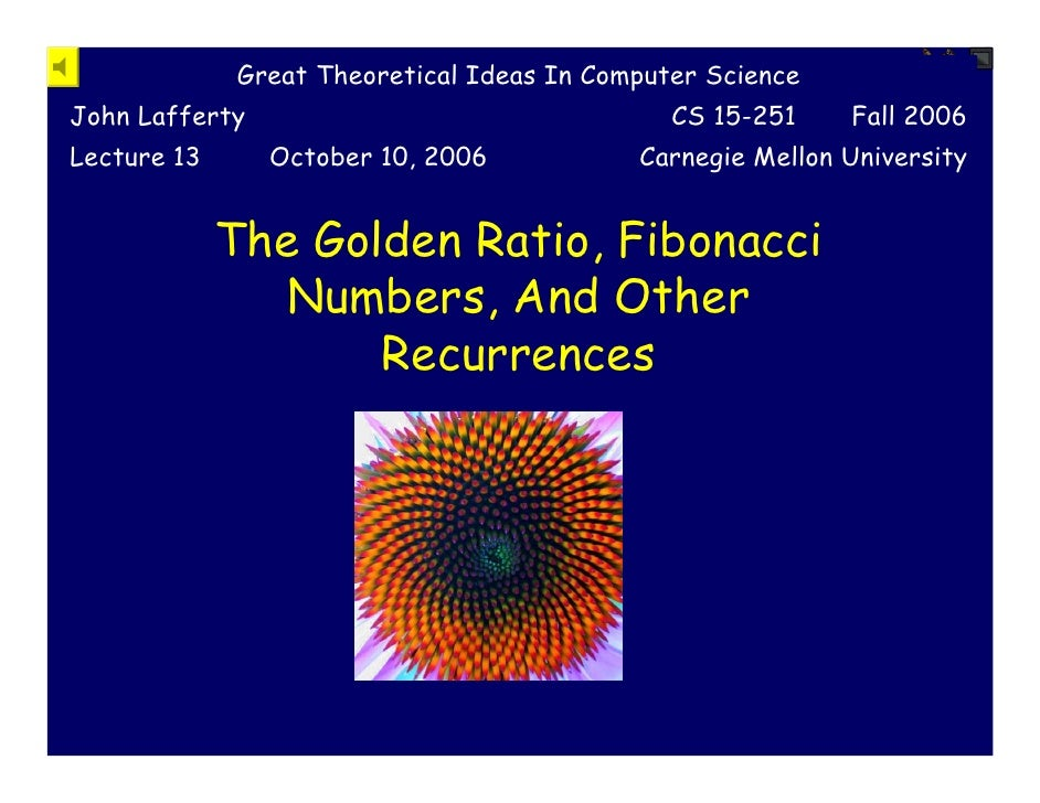 Great Theoretical Ideas In Computer Science John Lafferty                                  CS 15-251    Fall 2006 Lecture ...